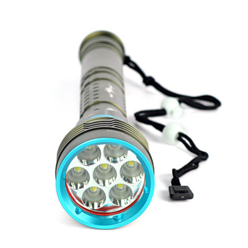 10000LM 7x XM-L L2 LED 18650/26650 Diving Scuba Flashlight Torch Underwater 200m portable waterproof 10000lm 7x xm l l2 led 18650 26650 battery diving scuba flashlight underwater light