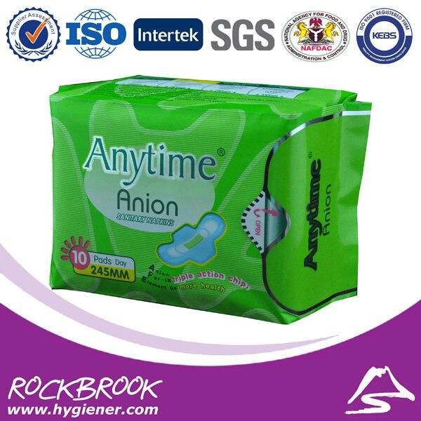Produto de Higiene Feminina medicado lady homenstrual sanitária pad Usage : Daily