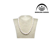 'MADALENA SARARA AA Near Round Pearl Necklace Freshwater Pearl 9 8mm Bead Making 18