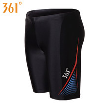 361 Men Tight Swim Shorts M-3XL Professional Quick Dry Swimming Trunk for Men 2019 Plus Size Swim Pants Male Swimsuit Jammer(China)