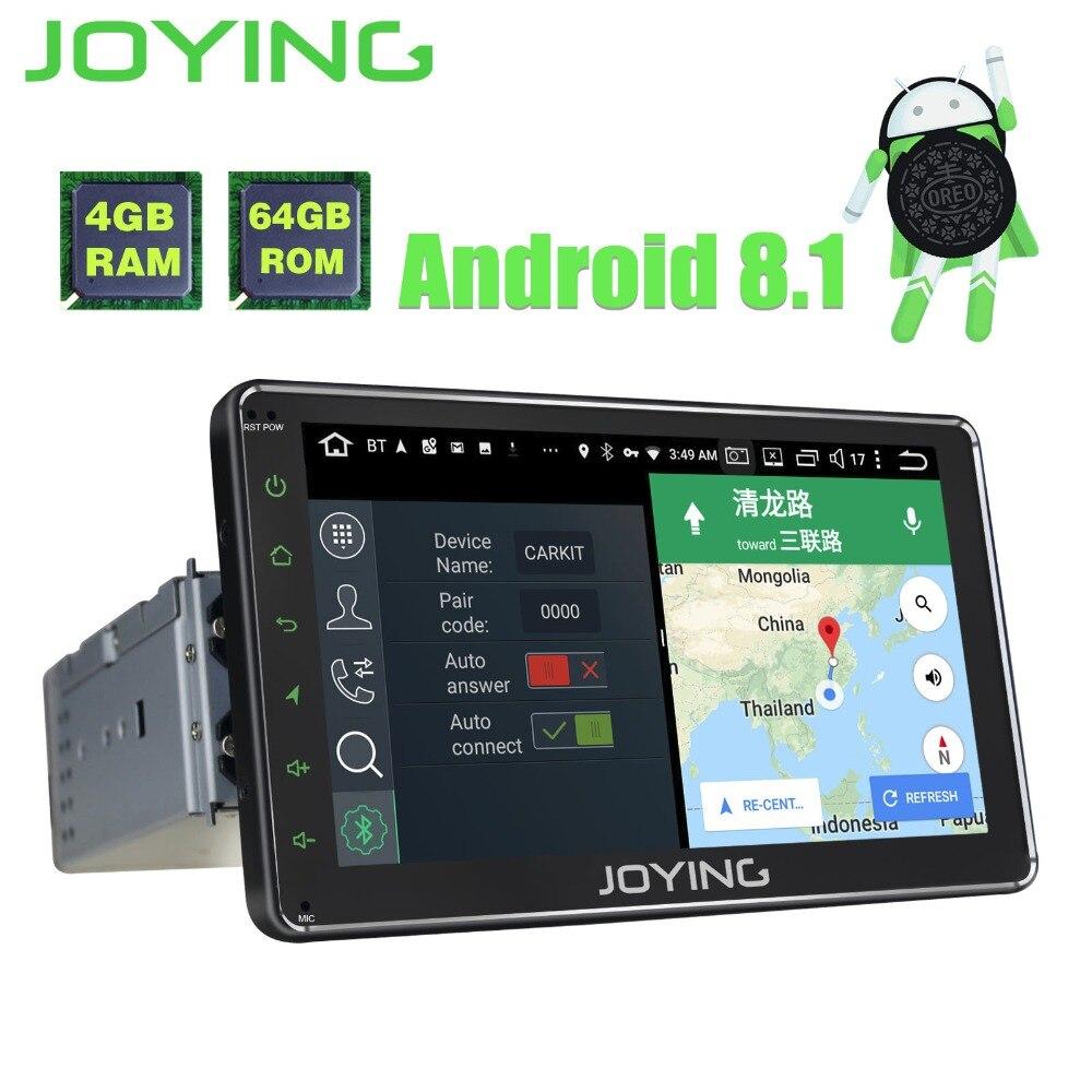 JOYING unique Din 7 4 gb + 64 gb Tête Unité Android 8.1 Voiture Radio Stéréo BT GPS Lecteur soutien carpaly avec sortie Vidéo construit en DSP