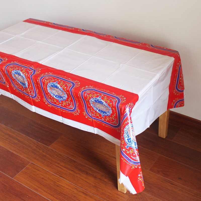 180*108 سنتيمتر عيد آل fitr رمضان البلاستيك الجدول القماش مفرش المائدة المتاح للماء ل مسلم الإسلامية الديكور