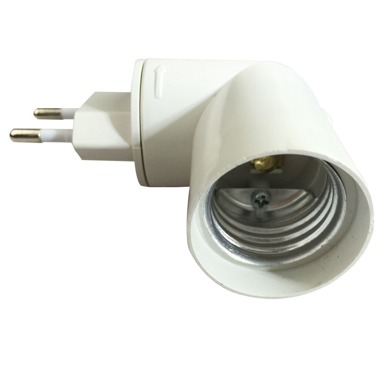 Efficient Us/eu E27 Plug Pbt Pp To E27 White Base Led Light Lamp Holder Bulb Adapter Converter Socket High Resilience Lights & Lighting