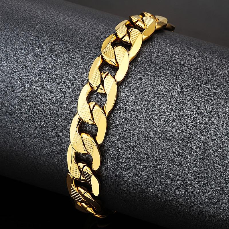 12 MM Männlichen Kandare Kubanischen Gliederkette Armband Für - Modeschmuck - Foto 3