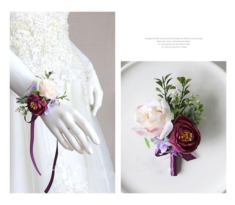 wedding boutonniere wrist corsage marriage  (31)