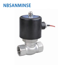 NBSANMINSE US-15 SS Steam valve Two Way Two position solenoid valve Pilot Operated Stainless Steel SS304 for steam oil water цена