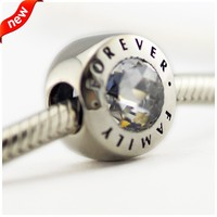 Beads DIY Fits Bracelets Bangles Charms Beads For Jewelry Making Family Forever Silver Charm Real 925