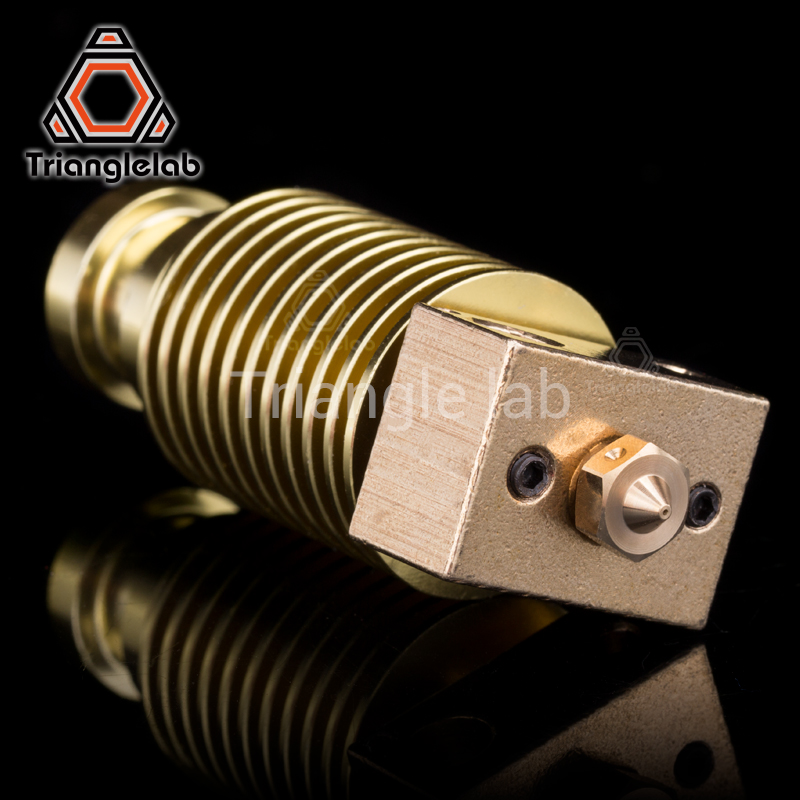 цена HQ gold heatsink v6 copper heater block hotend J-head heater block heat break NOZZLE for E3D HOTEND for titan extruder