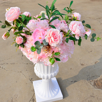 New Arrival Artificial 15 Dia Kissing Ball with Roman Column Wedding Decoration T Station Road Lead Flower Ball Free Shipping
