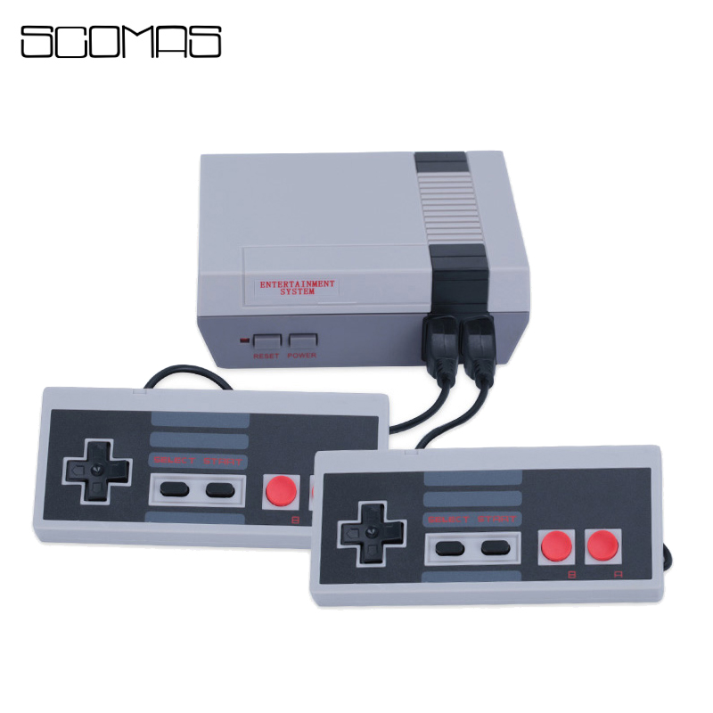 SCOMAS 8 Bits AV Out Retro Classic Mini Game Console Dual Handheld Family Video Portable TV Gaming Consoles Built-in 620 Games