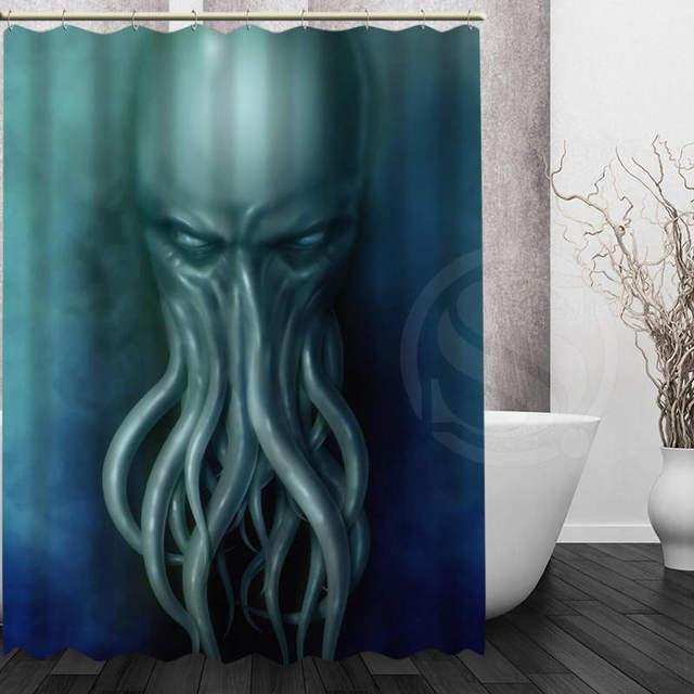 Best Nice Custom Octopus Shower Curtain Bath Waterproof Fabric For Bathroom MORE SIZE WJY