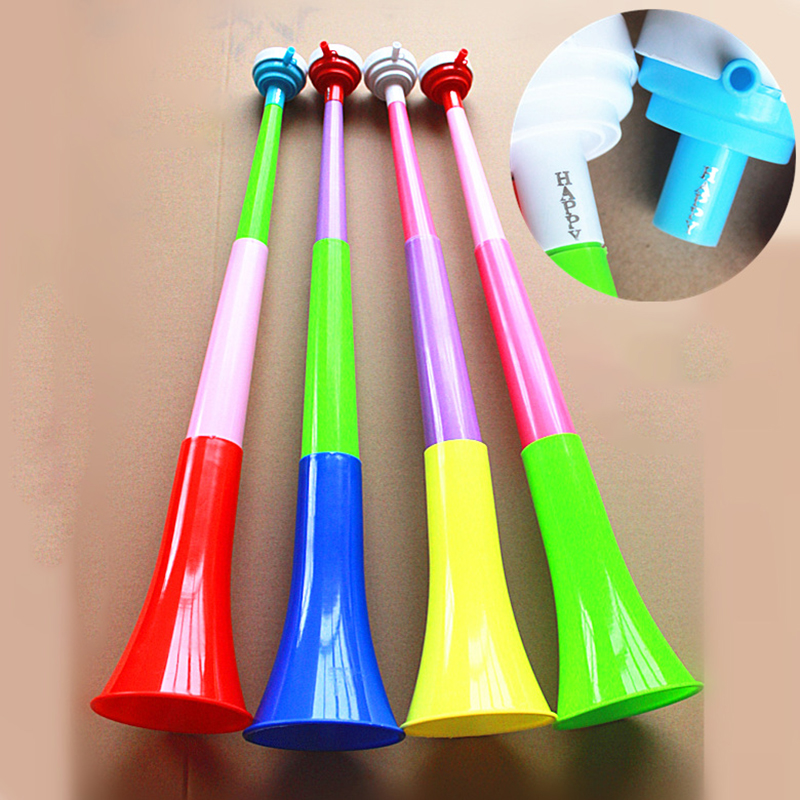 DIY Super Large Three-section Telescopic Horn Sports Props Children's Toys Cheering Fan Trumpet Children's Educational Music Toy