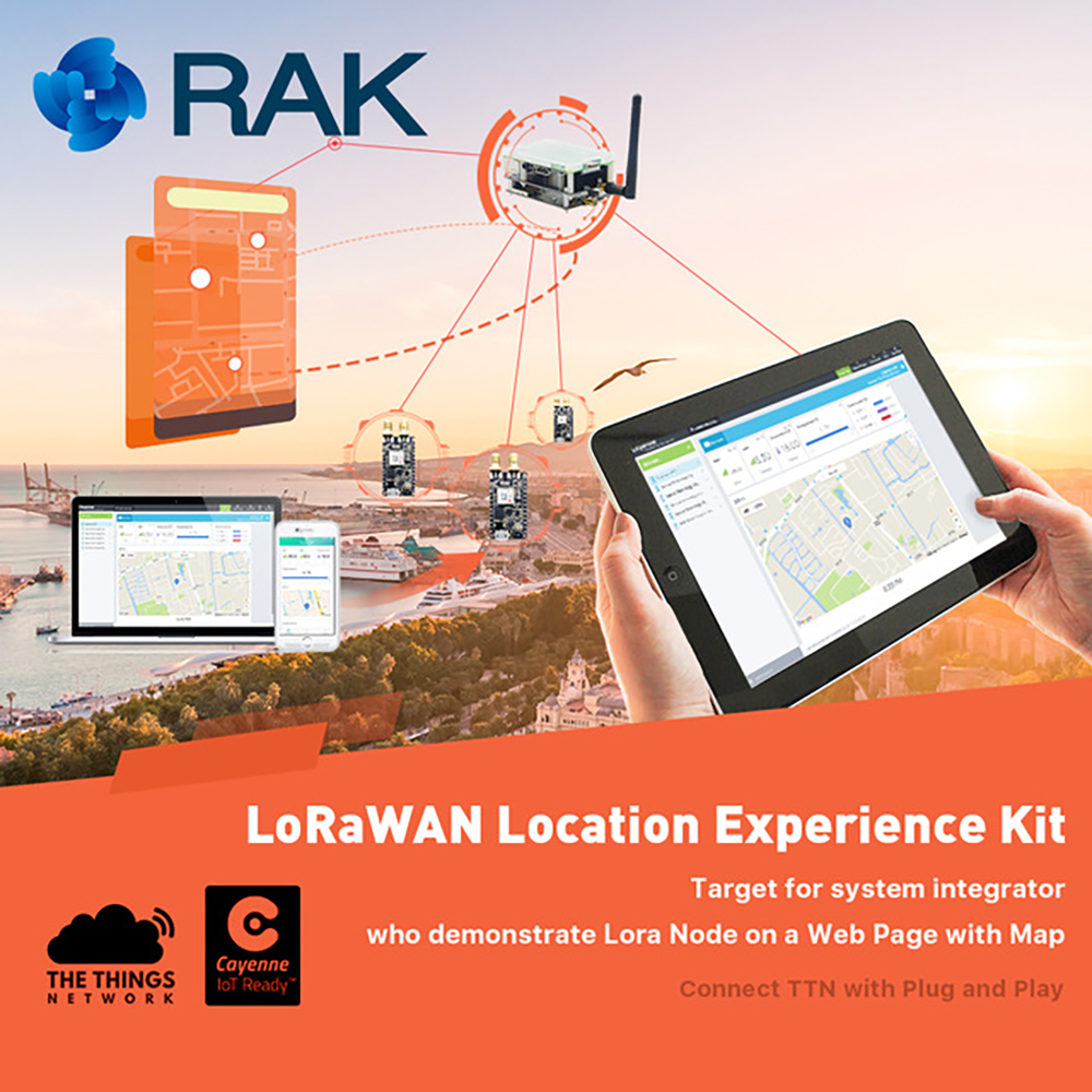 LoRaWAN Location Experience Kit IoT Solution System Lora Gateway Node Tracker Board GPS Module Raspberry Pi 3 in Web Page Q196