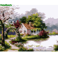 Home Beauty Diy Oil Painting By Numbers Picture For Living Room Wall Canvas Acrylic Coloring By