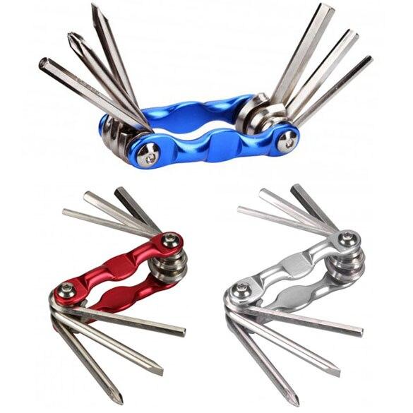 Портативный 6 в 1 Многофункциональный Маунтин-роуд Велосипедный Спорт велосипед Ремонт набор инструментов Наборы шестигранных ключей ключ... ...
