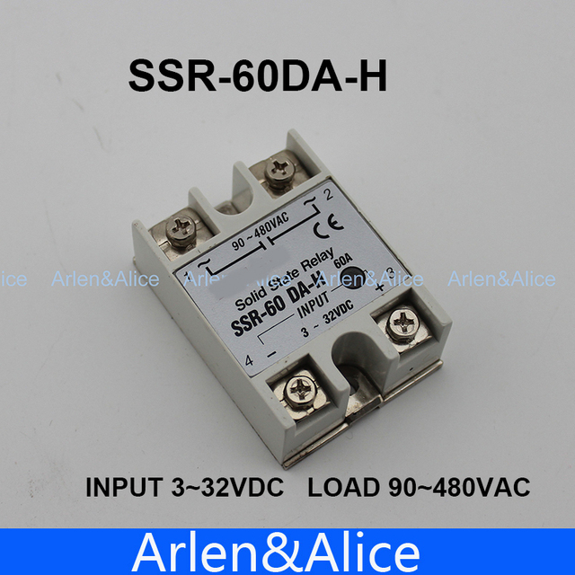 60DA SSR 60DA H High voltage AC solid state relay SSR input 3 32V DC