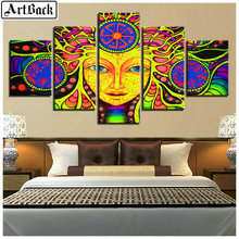 5 spelled diamond painting religious woman pictures skull mosaic full square drill embroidery set
