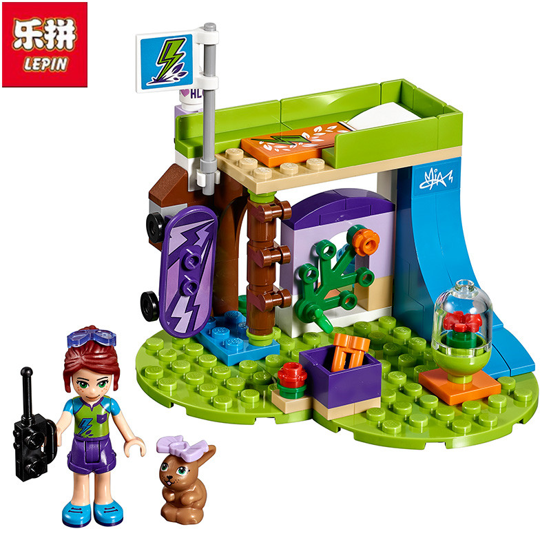 Lepin Friends Series The Mia's Bedroom Set 96Pcs Building Blocks Toys For Children Compatible with 41327 Girls Gift 01052 2017 hot sale girls city dream house building brick blocks sets gift toys for children compatible with lepine friends