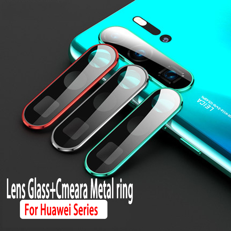 Camera Protector Glass For Huawei P40 P20 Pro P30 Lite Honor 20 20i Tempered Glass Metal Rear Camera Lens Protective Ring Case(China)