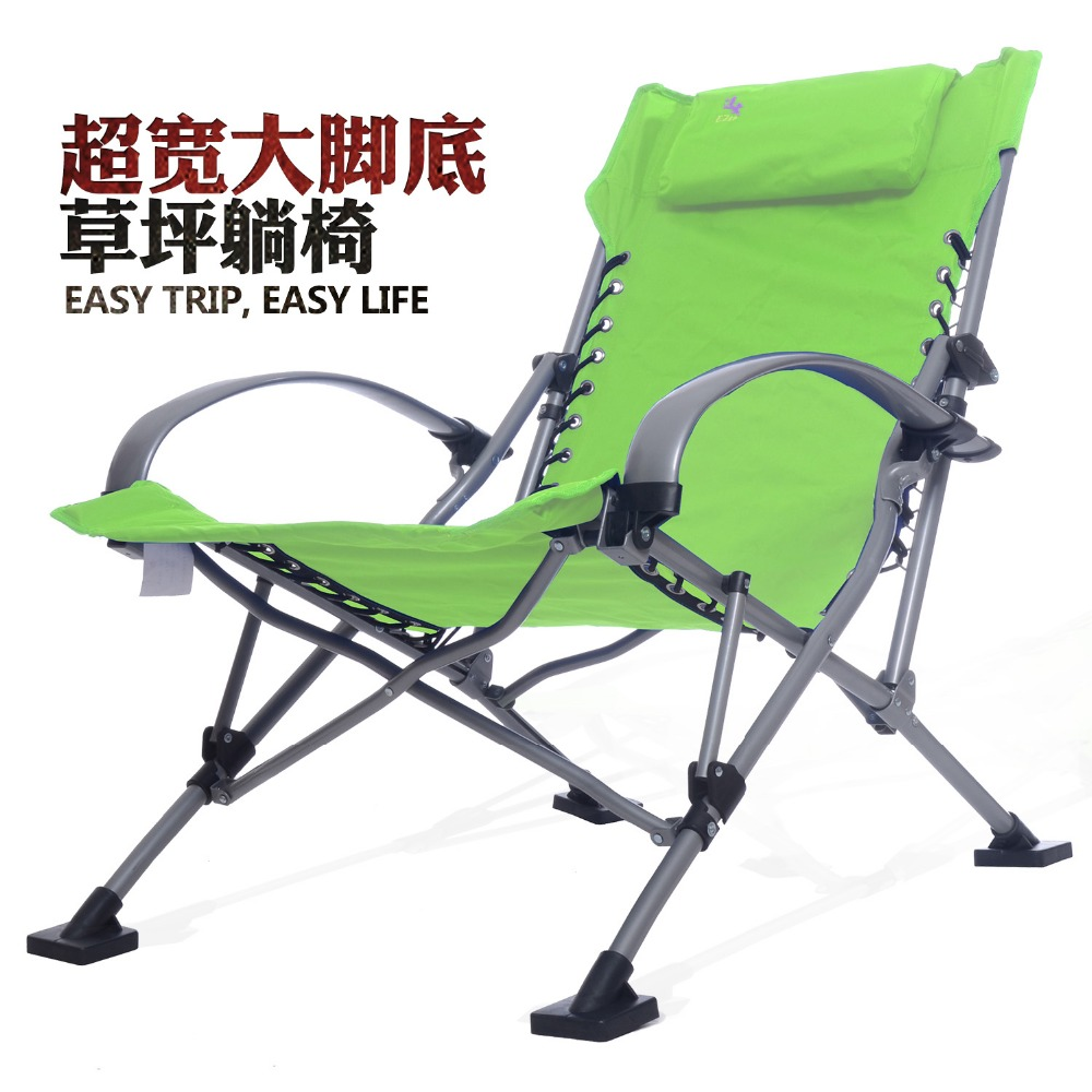 Chair portable lounge chair - Long Outdoor Picnic Camping Sunbath Beach Chair Zero Gravity Patio Lounge Chair Folding Foldable Recliner Chair In Beach Chairs From Furniture On