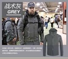 Grey Camouflage Coat Military Hunting Sport Jacket Waterproof Windbreaker Tactical Outerwear Men outdoor Softshell Hoodie Jacket