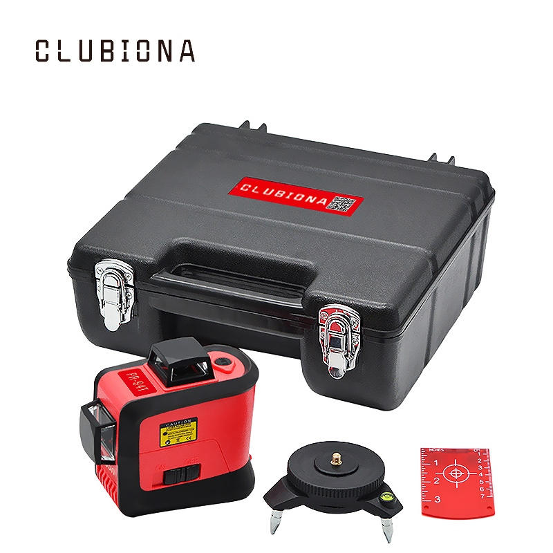 CLUBIONA 3D 360 rotary 12 cross level Laser lines with tilt slash function vertical horizontal Super