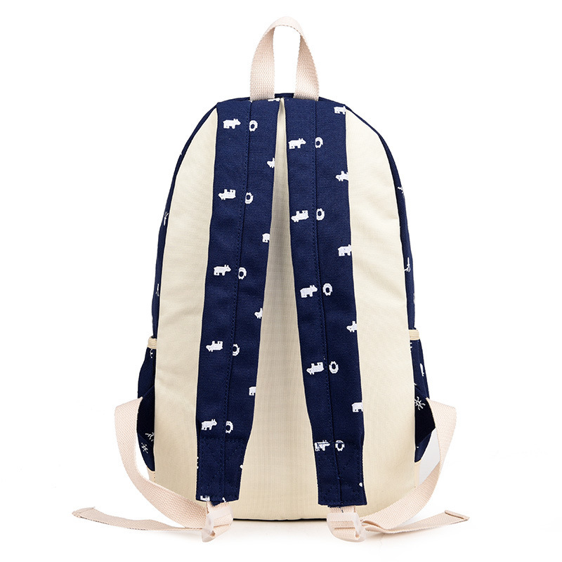 3pcs set Children Canvas School Backpacks College School Bag Fashion Plecak For Teenage Girls And Boys School Cotton Bags in School Bags from Luggage Bags