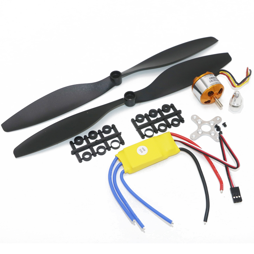 Image 2 - 4set/lot A2212 1000KV 2200KV A2208 Brushless Outrunner Motor +30A ESC+1045 Propeller Quad Rotor Set for RC Aircraft Multicopter-in Parts & Accessories from Toys & Hobbies