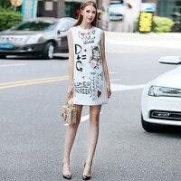 Vestido jacquard corto de alta calidad verano vintage 4