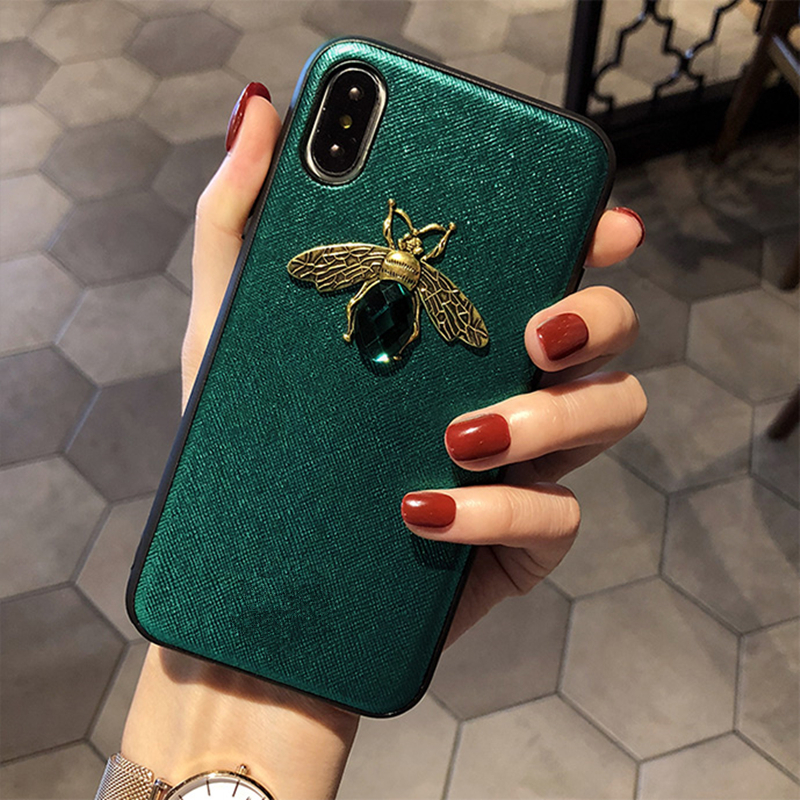 New Luxury Fashion Diamond Retro Bee Glitte phone case for iphone 7 case beautiful cover for iphone 6 6S 7 8 plus X XR XS Max