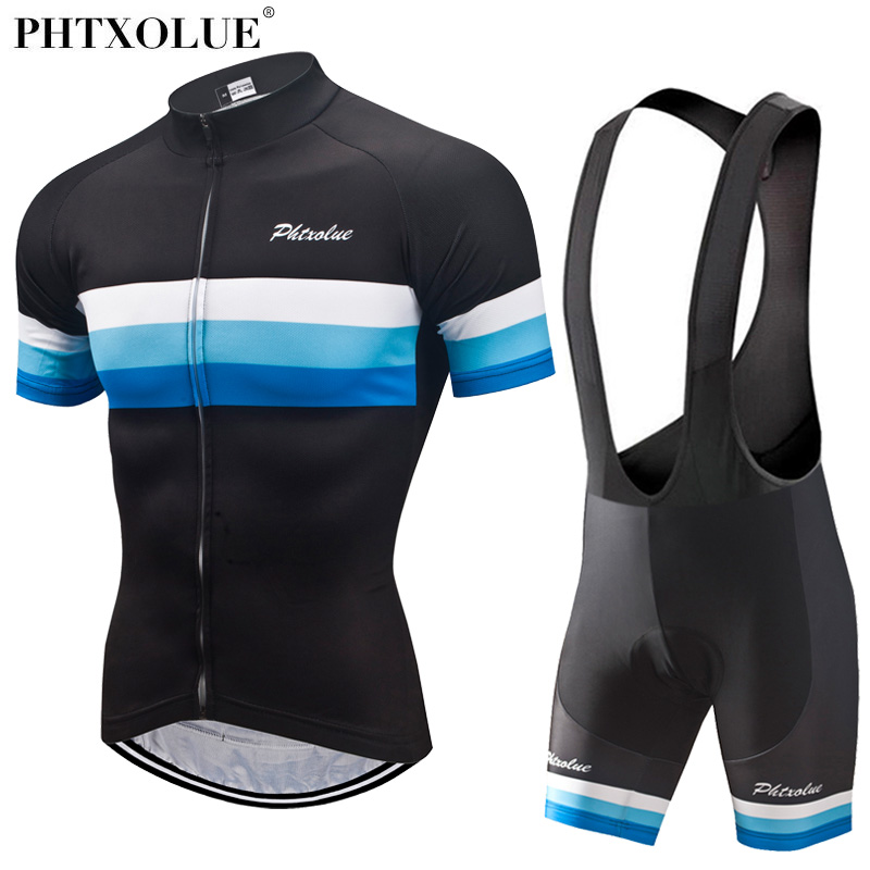 Phtxolue 2018 Cycling Sets Cycling Clothing Men Breathable Anti-UV Bicycle Wear Bike Clothing/Short Sleeve Cycling Jerseys set цена