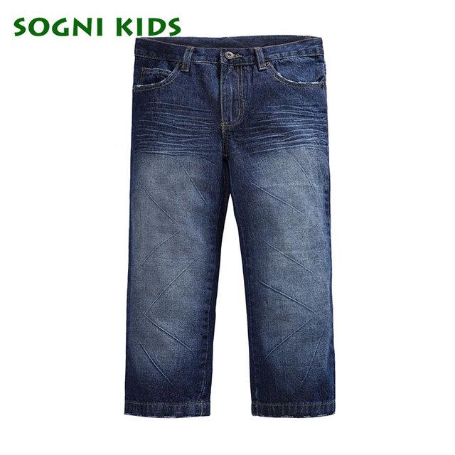 Meninos calças Jeans para o menino 2-12Yrs crianças completa calças jeans para criança roupas meninos primavera outono calças casuais de alta qualidade