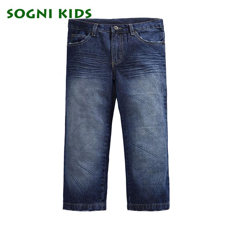 94794f5b3 Muchachos de los Pantalones Vaqueros pantalones para niño 2 12Yrs niños  pantalones de mezclilla para niños ropa niños del otoño del resorte  completo ...