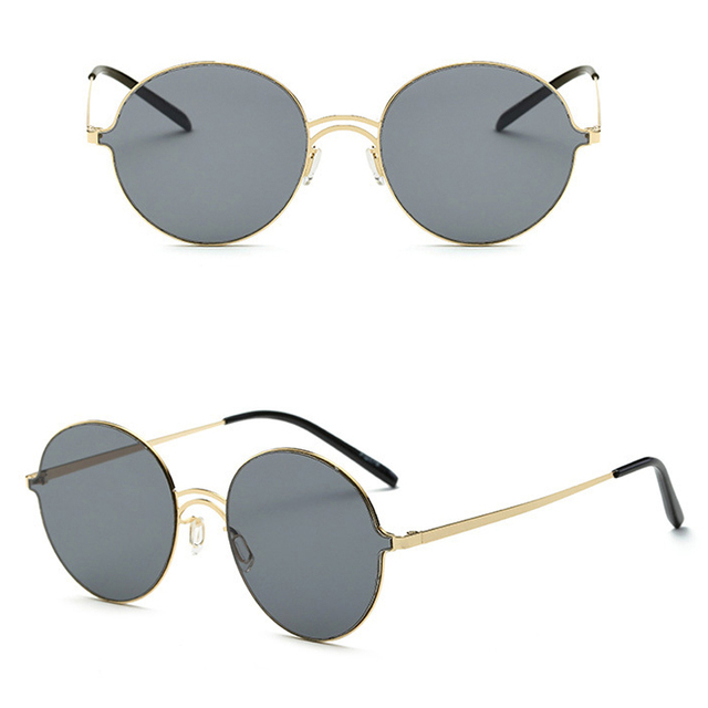 af60e37a26 The new low-priced sale high quality retro circular frame sunglasses Men  women fashion personality classic dazzle colour glasses