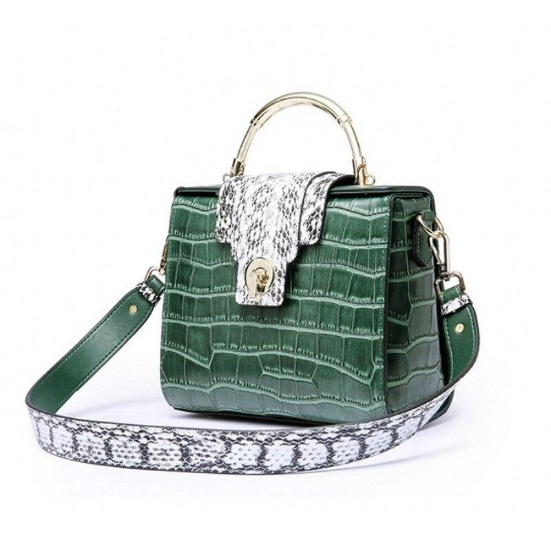 Épaule 2 4 Bureau Haute Sac Mode Marque Alligator Téléphone 3 Petit 1 Mobile Qualité Fourre Dames Bandoulière Femelle Femmes Vert tout 5 Sacs 51gHqg