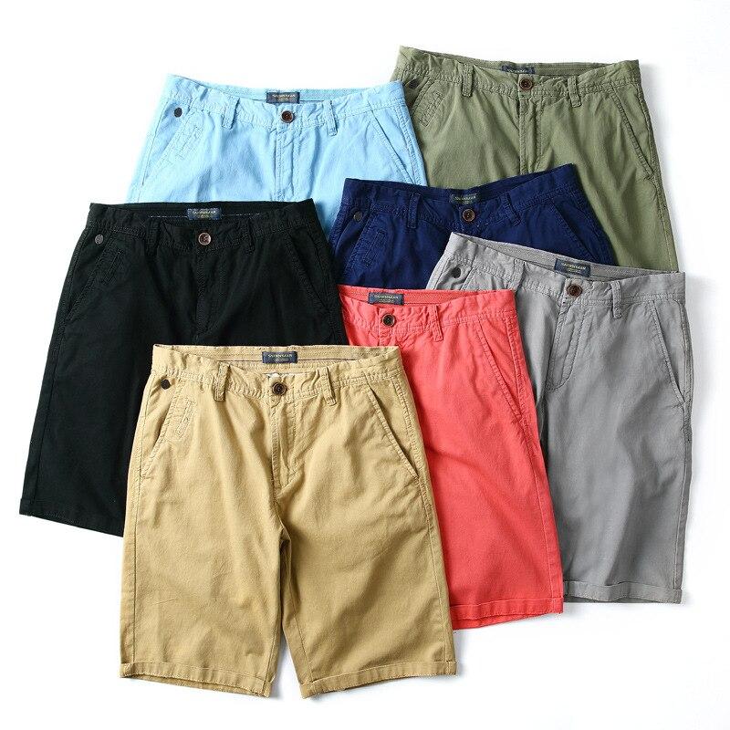 Amazing High Quality Men Fashion Short Cargo Short Pure Cotton Trend Shorts 7 Colors Available MT08