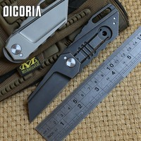 DICORIA Yoda Ball Bearing M390 Folding Knife Titanium Handle Tactical Camping Hunting Outdoor Suvival Pocket Knives
