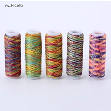 Hicello 5Pcs/bag Sewing Thread Hand Quilting Embroidery Rainbow Color Sewing Thread Home DIY Sewing Accessories Supplies Gifts