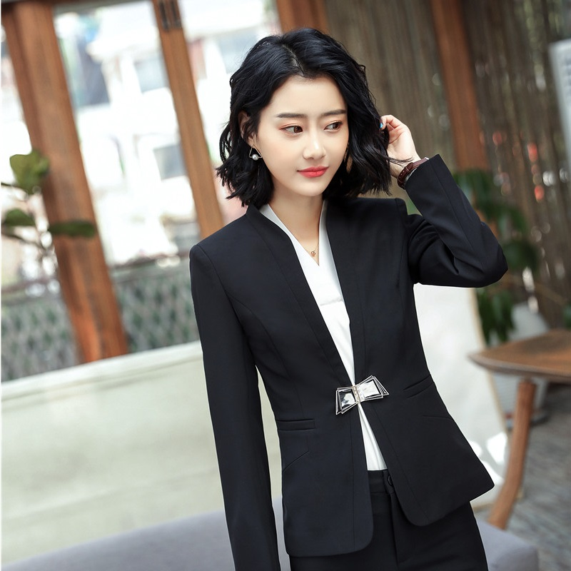 Ladies Long Sleeve Formal Blazers & Jackets Coat Business Outwear Female Tops Clothes Spring Fall Blazer Uniform Styles OL