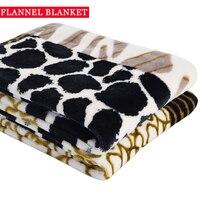 1 PCS Poliéster Impresso Coral do Velo Cobertor Para Cama Sofá Viagem Único Lance Inverno Cama Lençóis de Flanela Cobertores 110X140 CM