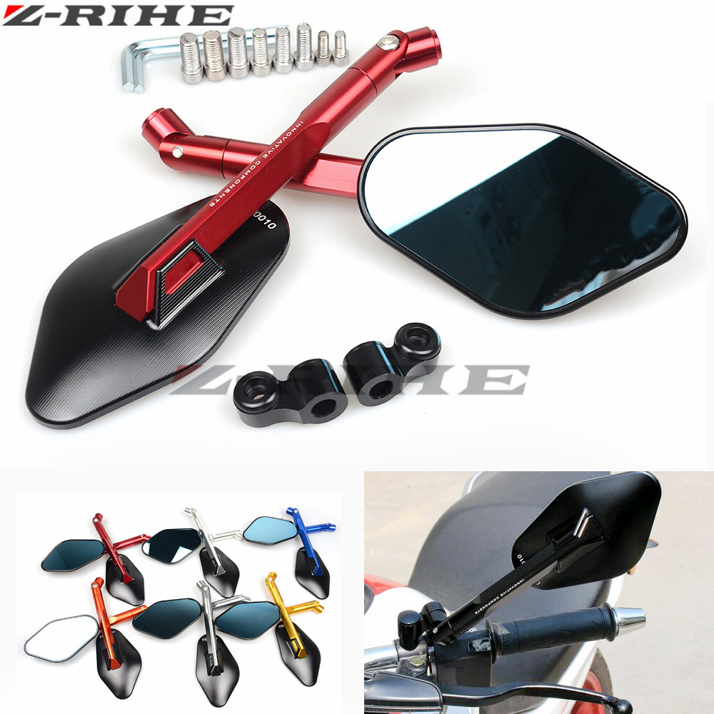 Rearview Mirrors For Yamaha MT 07 MT 09 MT 07 09 FZ 07 FZ1 FZ6 FZ8 CNC Aluminum Mirror Motorcycle Scooter Accessories