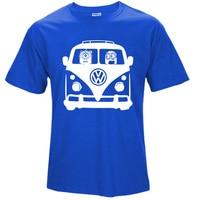 Top Quality Cotton Car T Shirt Minions VW Volkswagen Print Homme Summer Short Sleeve T Shirt
