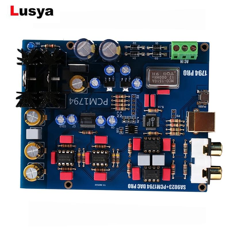 For PCM1794+AK4118 PCM2704 USB DAC Decoder W// Headphone Amplifier Sound Card