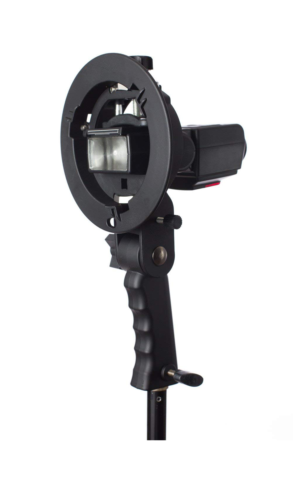 Handheld Grip S-Type Bracket Holder with Bowens Mount for Speedlite Flash Snoot Softbox Beauty Dish Photography Accessories (4)