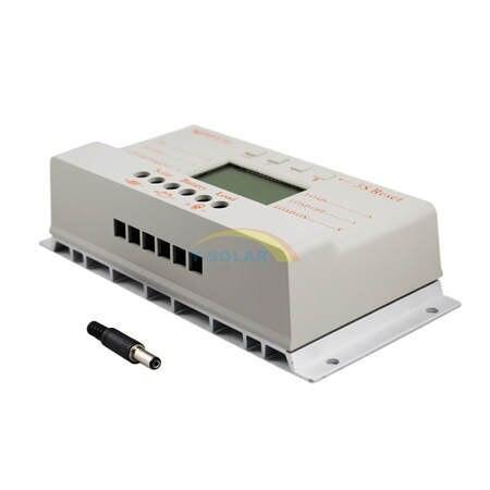 MPPT 30A LCD controlador de carga Solar 12 V 24 V auto interruptor pantalla LCD MPPT30 controlador de carga Solar MPPT 30 controlador de cargador - 4
