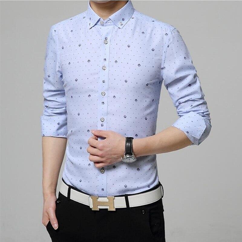 2016 New Fashion Men S Cotton Denim Shirt Slim Casual Long Sleeved Denim Shirt Obscure Men