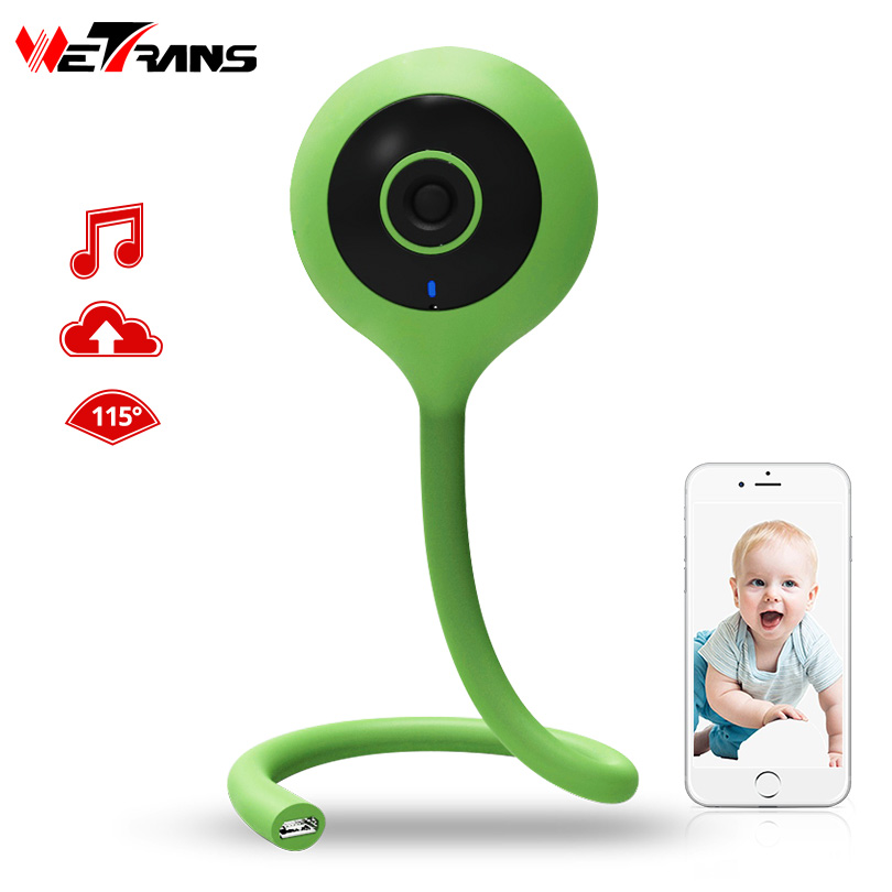 Wetrans Baby Monitor Mini-Camera Night-Vision-Alarm Home-Security Wireless Full Wi-Fi