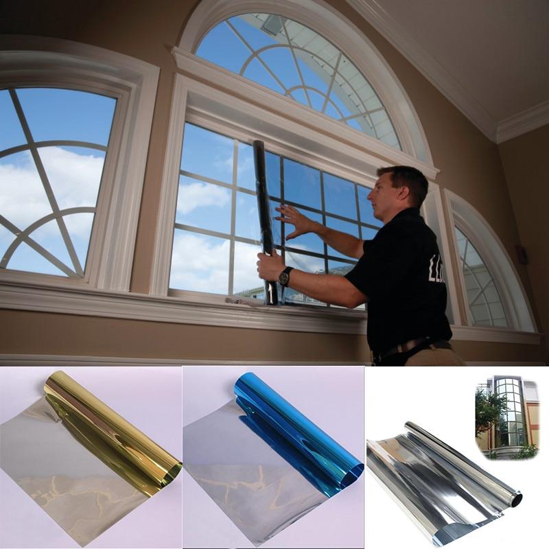 1mx30cm One Way Solar Reflective Mirror Insulation Window