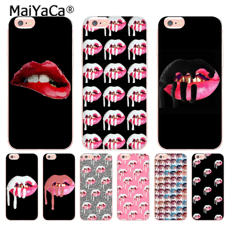 MaiYaCa <font><b>Sexy</b></font> Kylie Jenner Lipstick Lips <font><b>Girls</b></font> Luxury soft tpu phone <font><b>case</b></font> for <font><b>iPhone</b></font> 8 <font><b>7</b></font> 6 6S Plus X 10 5 5S SE 11pro <font><b>case</b></font> Coque image