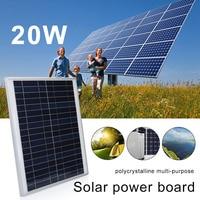 20W Solar Cells Reusable Solar Energy Solar Charging Equipment for Outdoor Car Home Improvement for Solar Panel Travel DIY